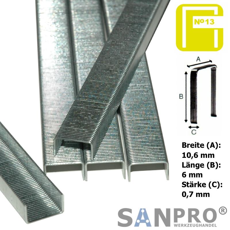 5000 Stück RAPID Feindrahtklammern / Klammern 37/6 Typ 13 (10.6x6x0.7 mm)