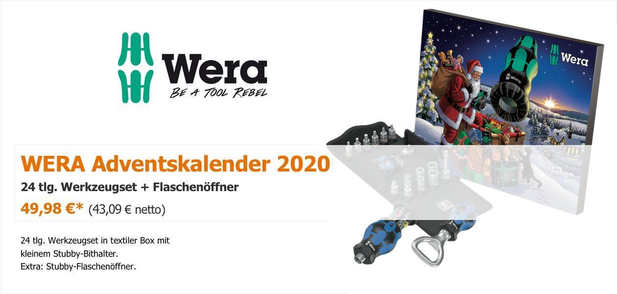 WERA Adventskalender 2020