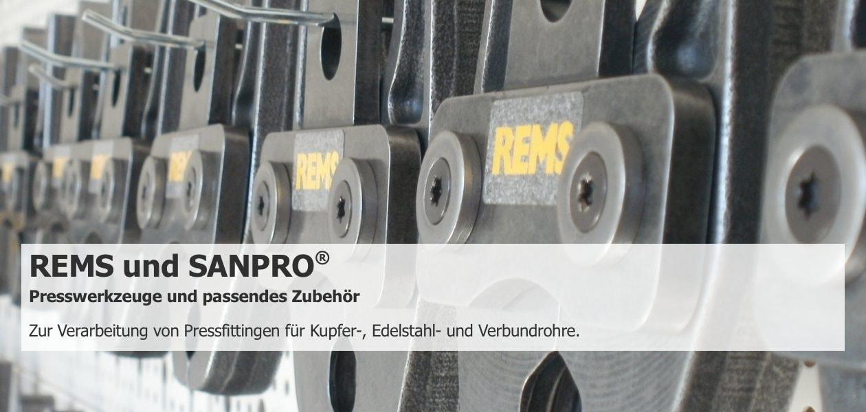 Sanpro Presszangen und Fittinge