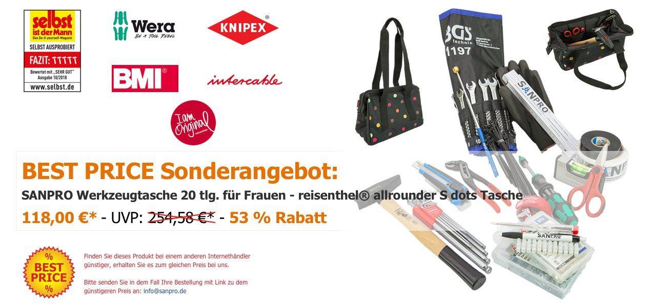 SANPRO Werkzeugtasche 20 tlg. für Frauen - reisenthel