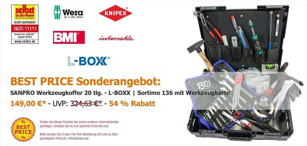 SANPRO Werkzeugkoffer 20 tlg. - L-BOXX