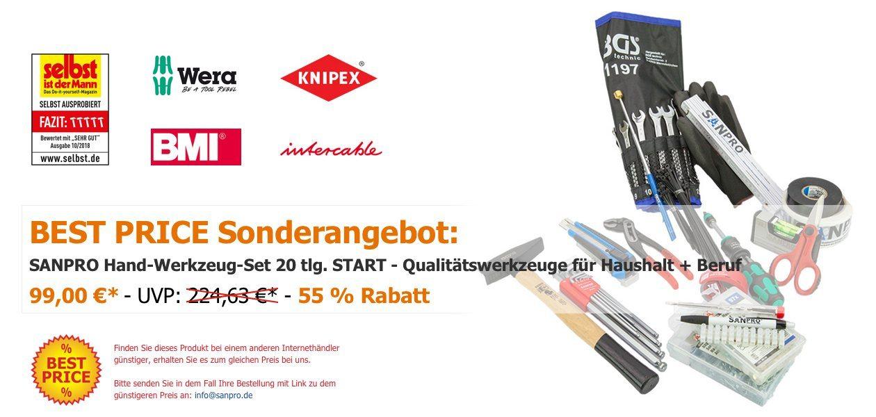 SANPRO Hand-Werkzeug-Set 20 tlg.