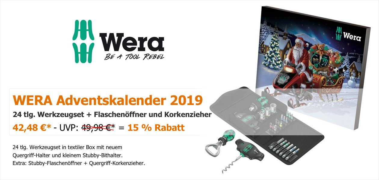 WERA Adventskalender 2019